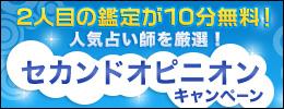 2人目の電話鑑定が【10分無料】になるセカンドオピニオンキャンペーン